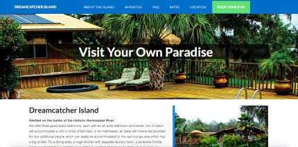 Website Design for Dream Catcher Island