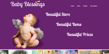 Website Design for Baby Blessings