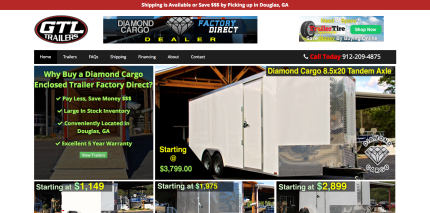 Ecommerce and Webstie Design for GTL Trailers