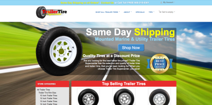 Ecommerce & Website Design for Trailer Tire Supercenter